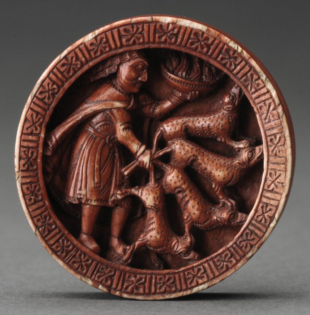Pion de trictrac : Samson et les renards