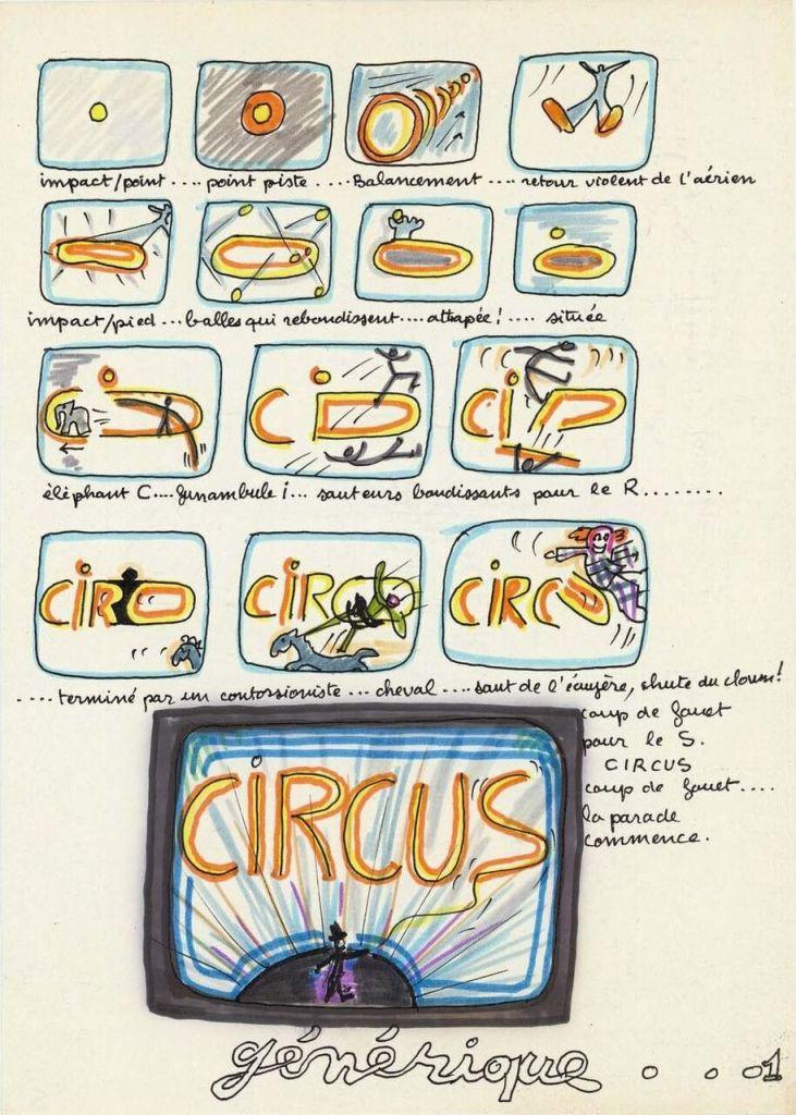storyboard Electronique Vidéo circus - générique