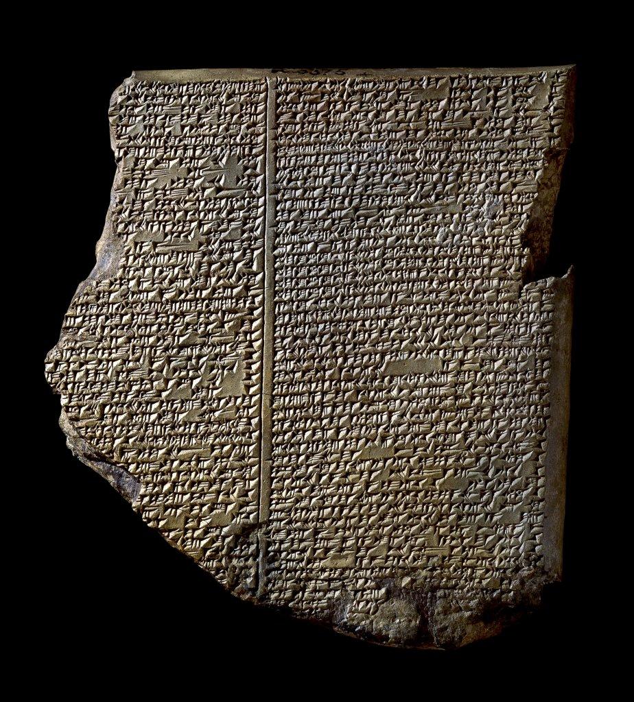 Tablette du Déluge, Argile, 700–600 av. J.-C., Kouyunjik (Ninive), Irak @Trustees of the British Museum