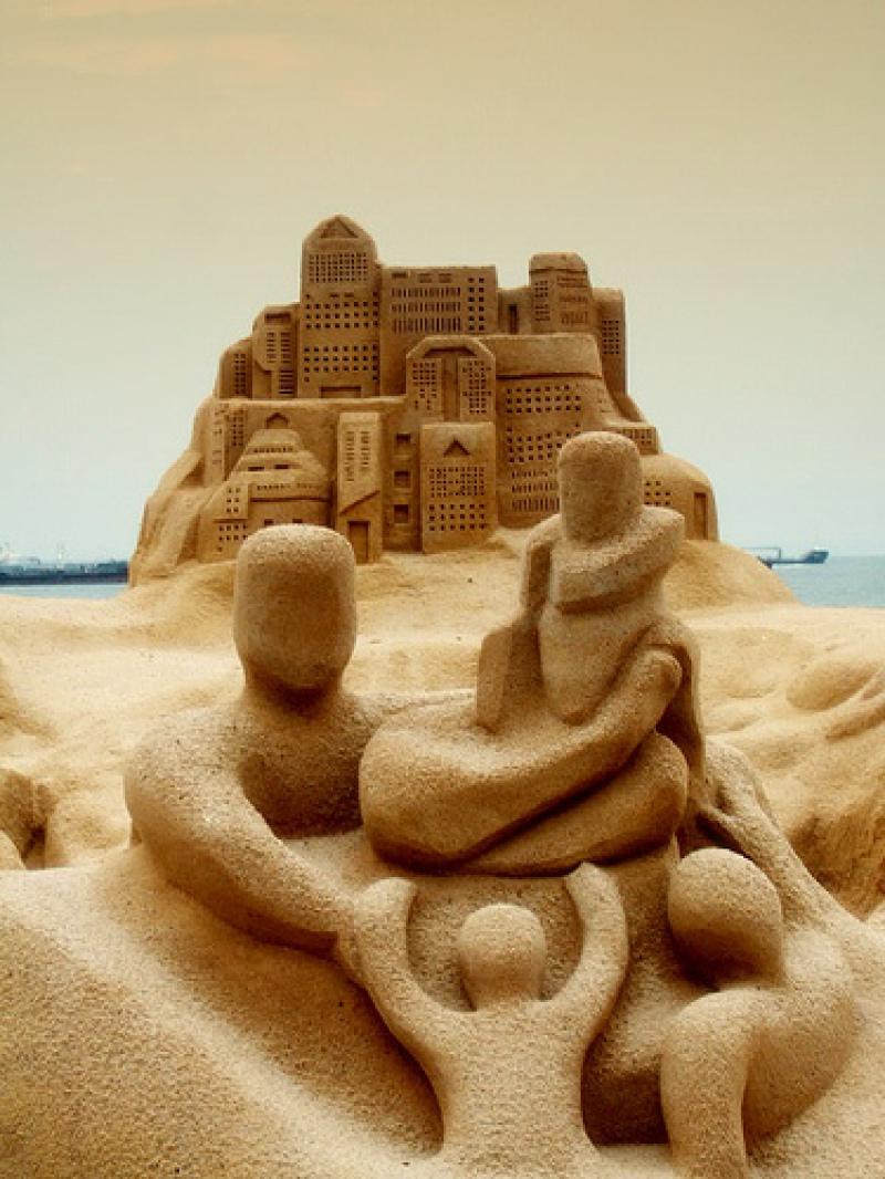 Un château de sable made in Siingapour