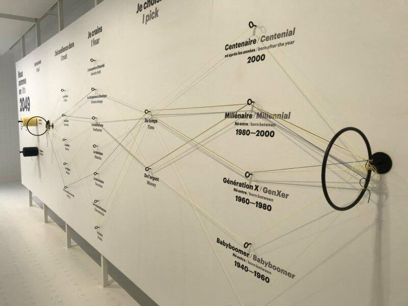 Vue de l'exposition 1, 2, 3 Data - Fondation EDF