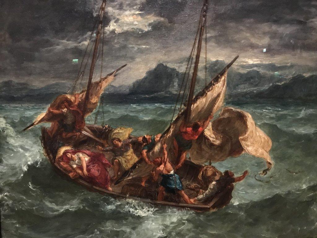 Vue de l'exposition Eugène Delacroix - Musée du Louvre
