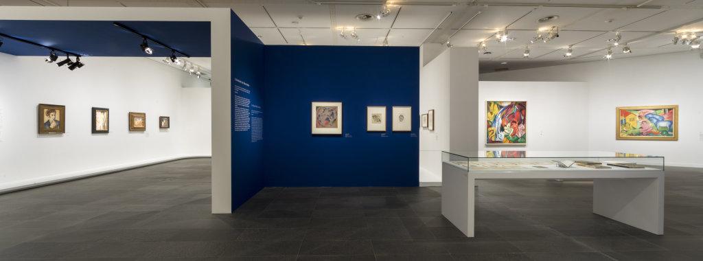 Vue de l'exposition Franz Marc - August Macke, Musée de l'Orangerie, Paris (1)