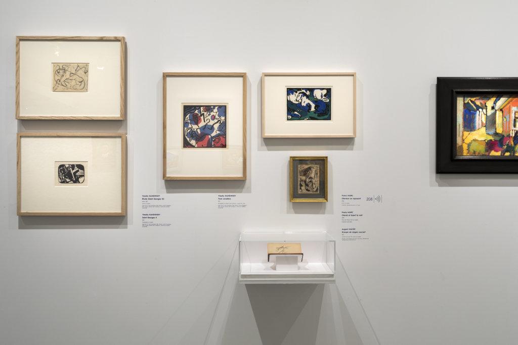 Vue de l'exposition Franz Marc - August Macke, Musée de l'Orangerie, Paris (3)
