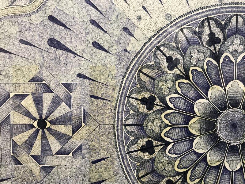 Vue de l'exposition La Collection Bic - Centquatre Paris