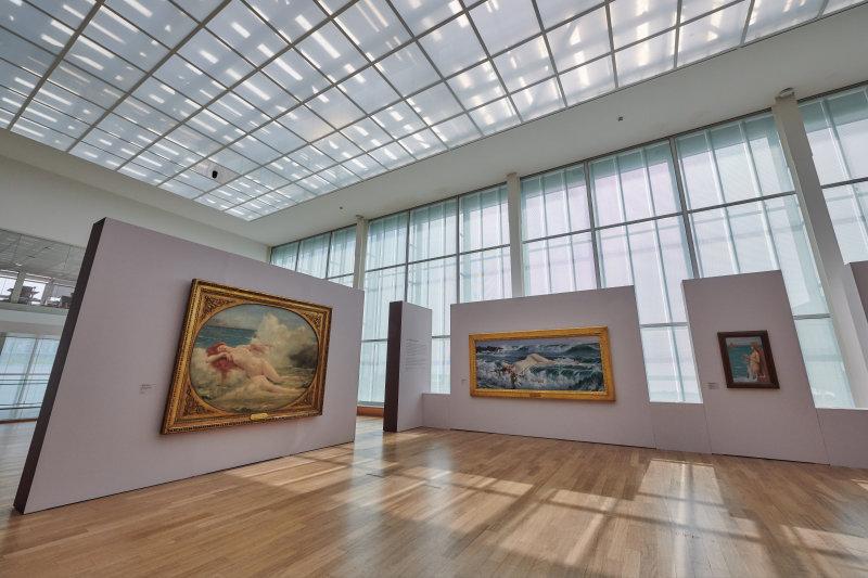 Vue de l'exposition Né(e)s de l'écume et des rêves - MUMA, Le Havre
