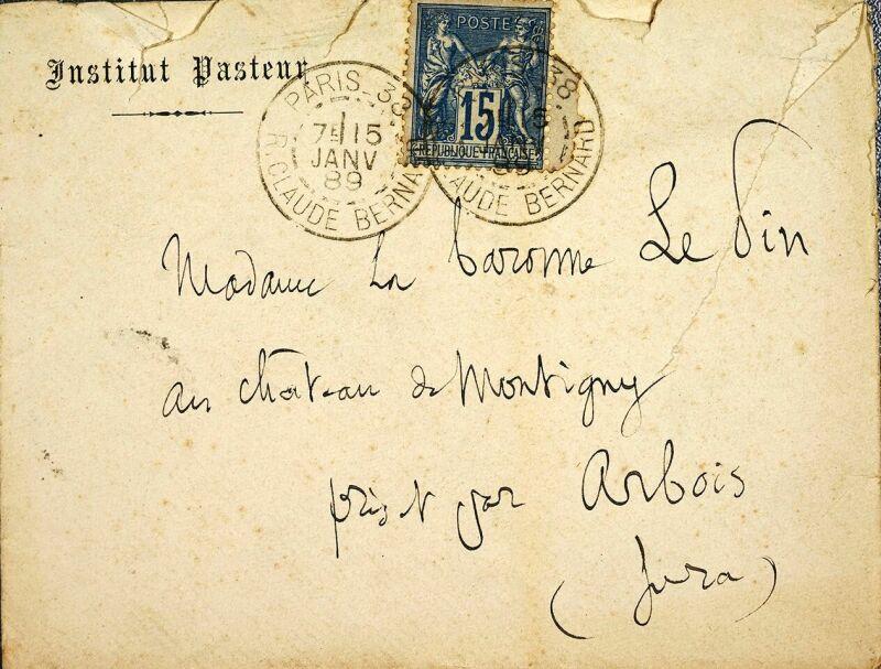 Vue de l'exposition Pasteur à Arbois - Enveloppe