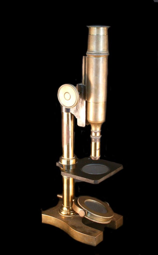 Vue de l'exposition Pasteur à Arbois - Microscope