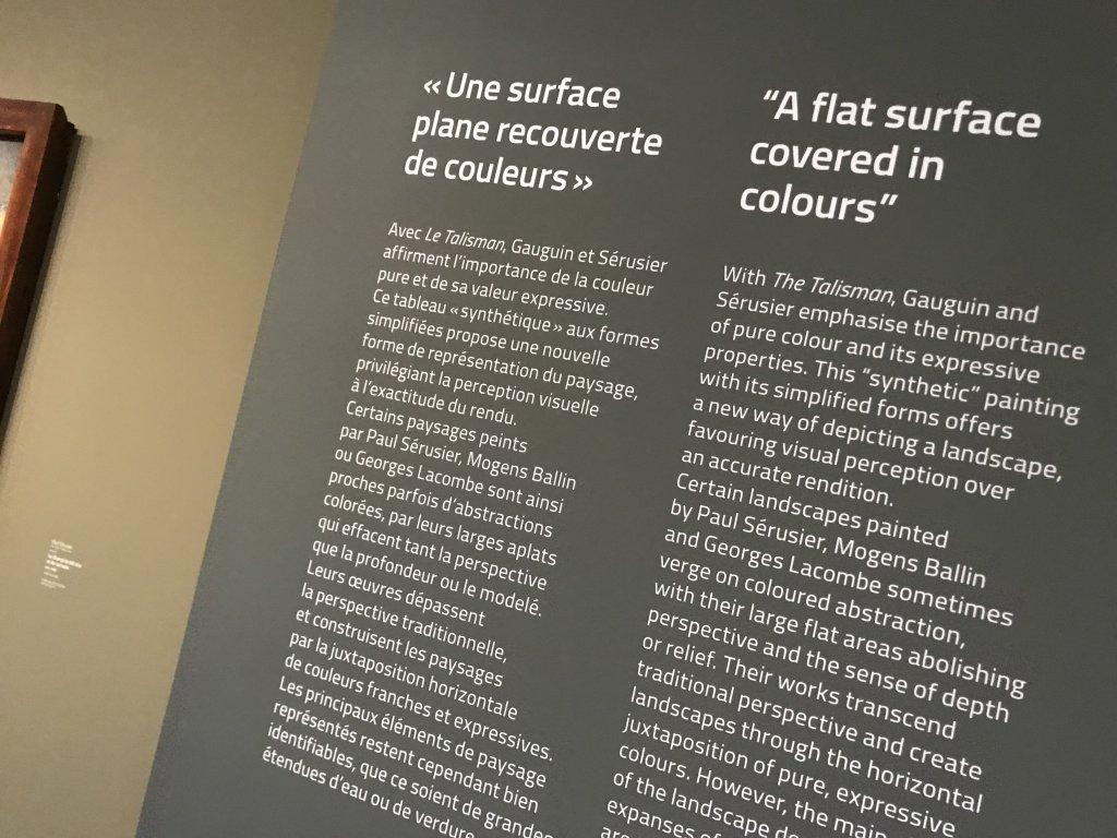 Vue de l'exposition Sérusier, Musée d'Orsay, Paris (63)