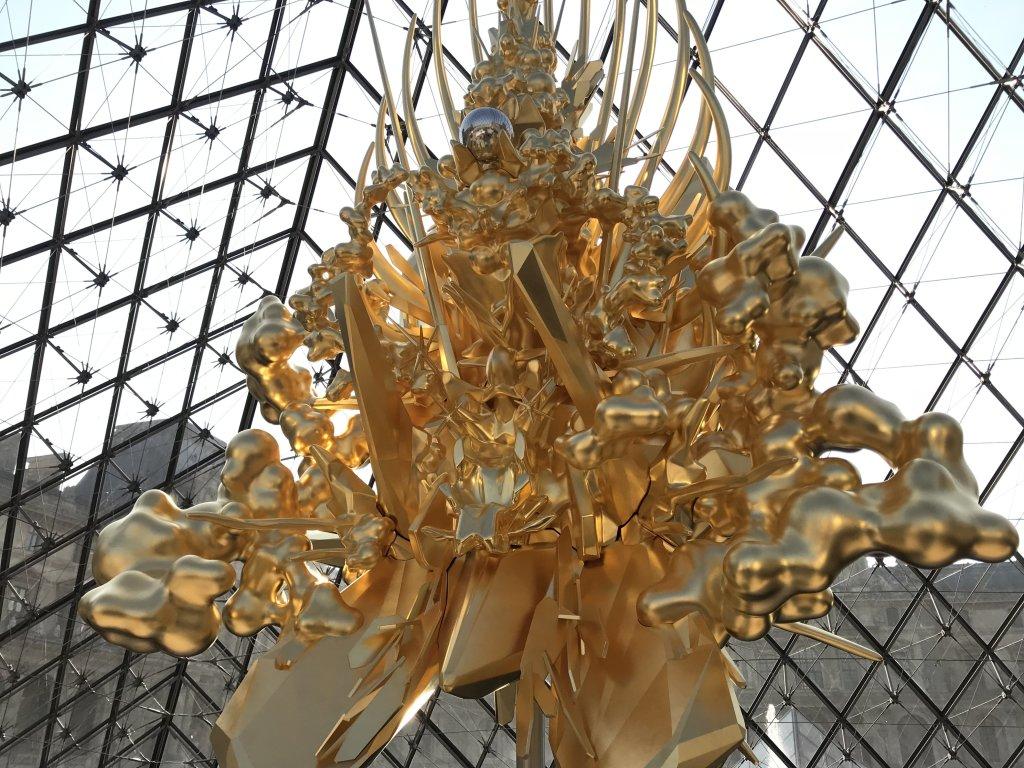 Vue de l'exposition Throne, Kohei Nawa - Musée du Louvre