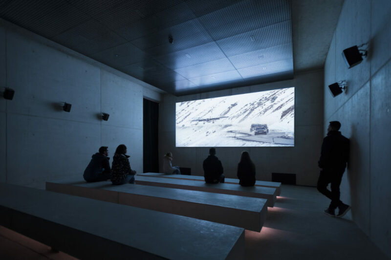 007 Elements Interior, screening room. Photo by Kristopher Grunert