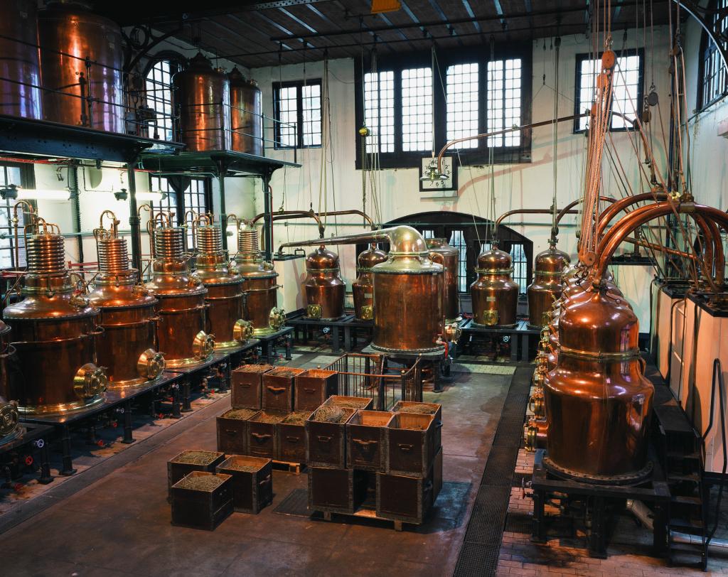 Vue de la distillerie