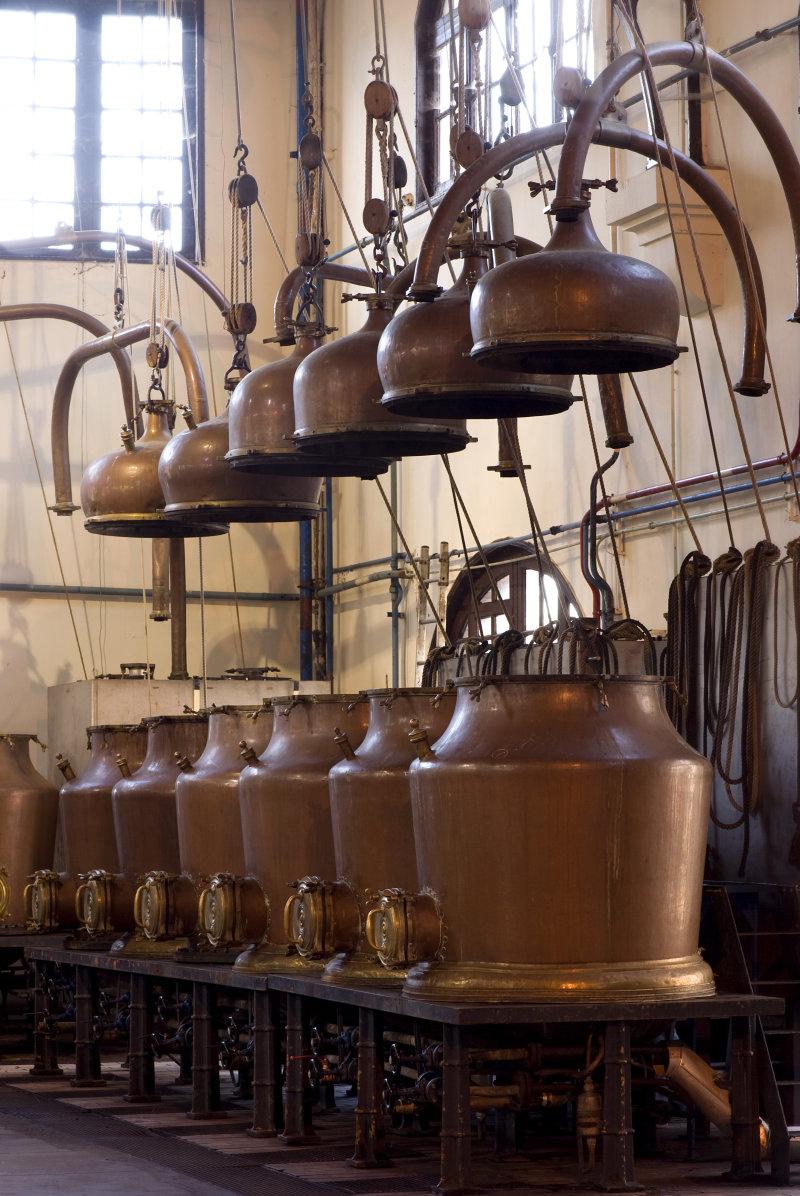 Vue du Palais Bénédictine, Fécamp - Distillerie