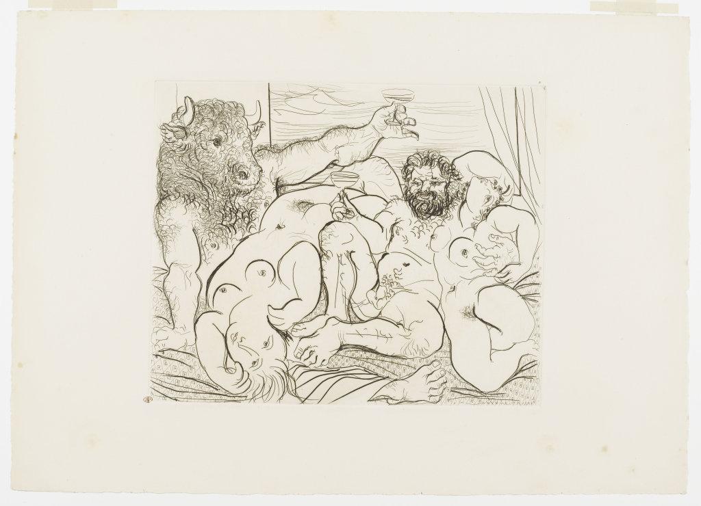 Pablo Picasso, Scène bachique au Minotaure, IIIe état