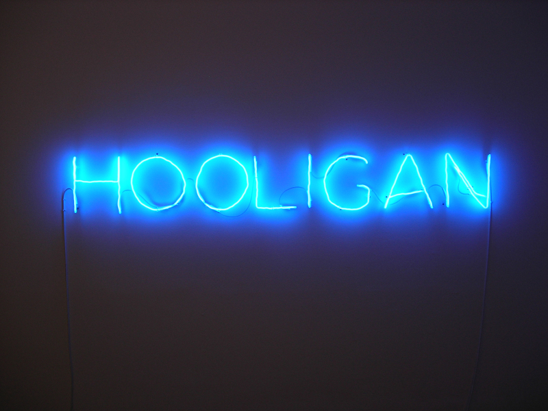 Claude Lévêque, Hooligan, 2006