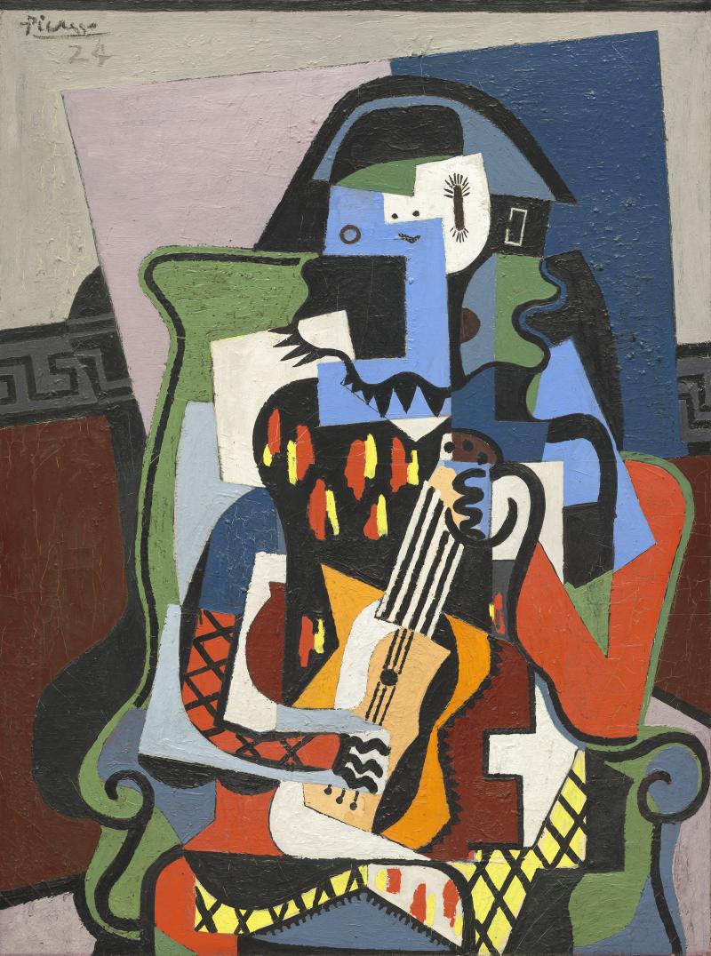 Pablo Picasso, Arlequin musicien, 1924