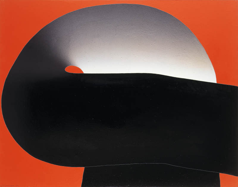 Motonaga Sadamasa, Work (Red, Black), 1970. Huile sur toile 91,8 x 116,8 cm.