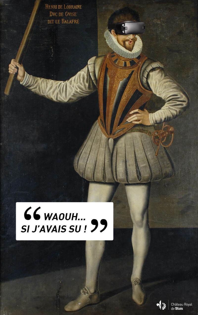 Vue de l'exposition au Château de Blois