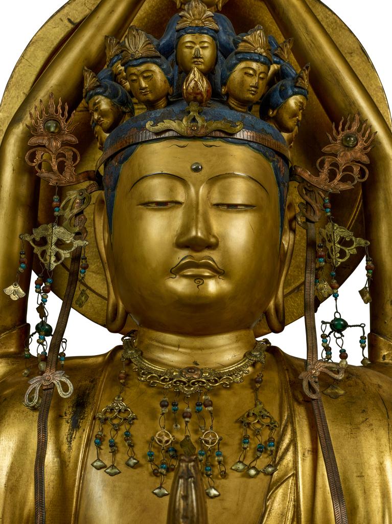 Statue de la déesse Kannon (Japon - époque Edo 1603-1868)