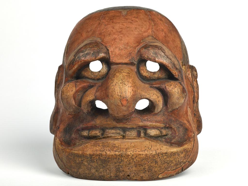 Masque de kyôgen de type Buaku (Japon - 18e siècle)