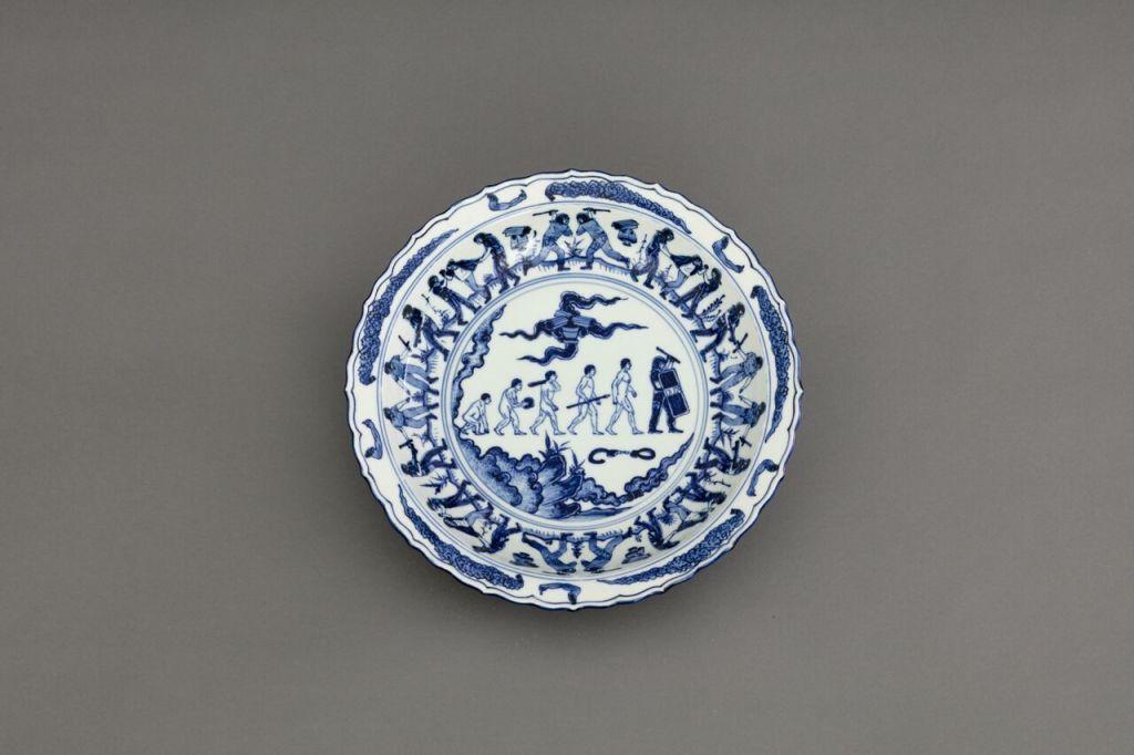 Ai Weiwei, Blue and White Porcelain Plate (Demonstrations), 2017(c)Image Courtesy Ai Weiwei studio
