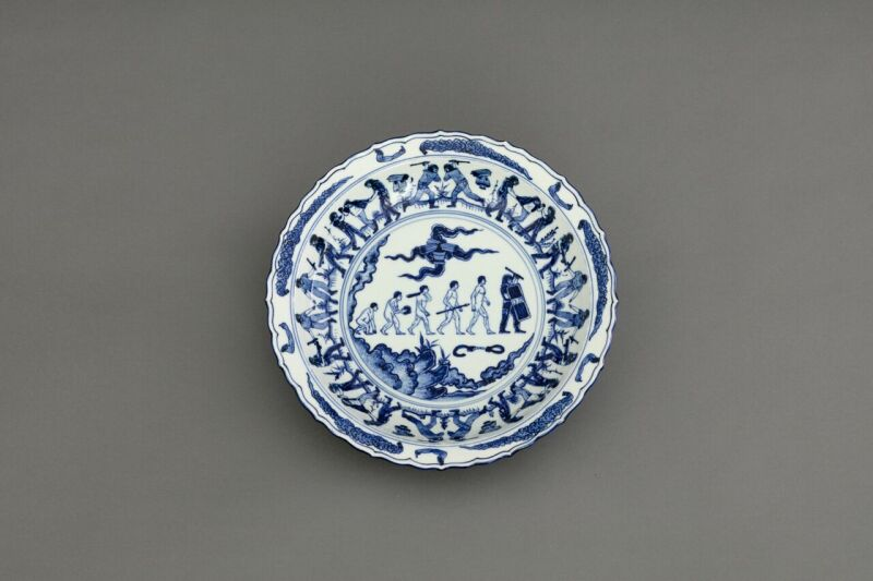 Ai Weiwei, Blue and White Porcelain Plate (Demonstrations), 2017(c)Image Courtesy Ai Weiwei studio