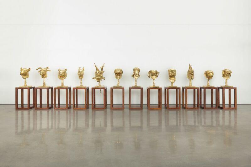 Ai Weiwei, Circle of Animals, 2010 (Gold) (c) Image Courtesy Ai Weiwei studio