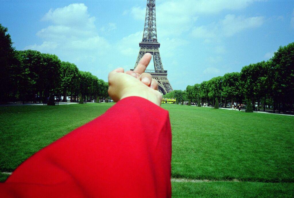 Ai Weiwei Study of Perspective, 1995-2011, Eiffel Tower, Paris, 1999 (c) Image Courtesy Ai Weiwei studio