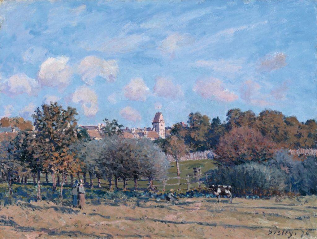 Alfred Sisley (1839 -1899)L'Église de Noisy-le-Roi–effet d'automne, 1874