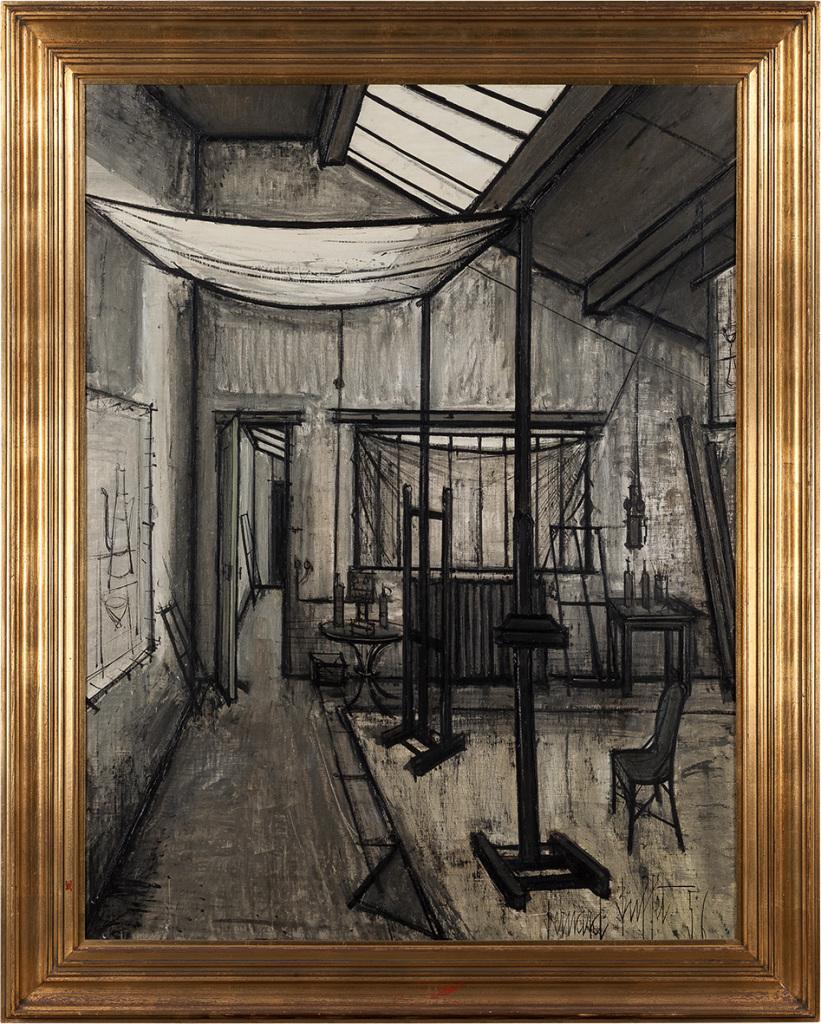 Bernard Buffet, L'atelier, 1956, Huile sur toile, 116 x 89 cm