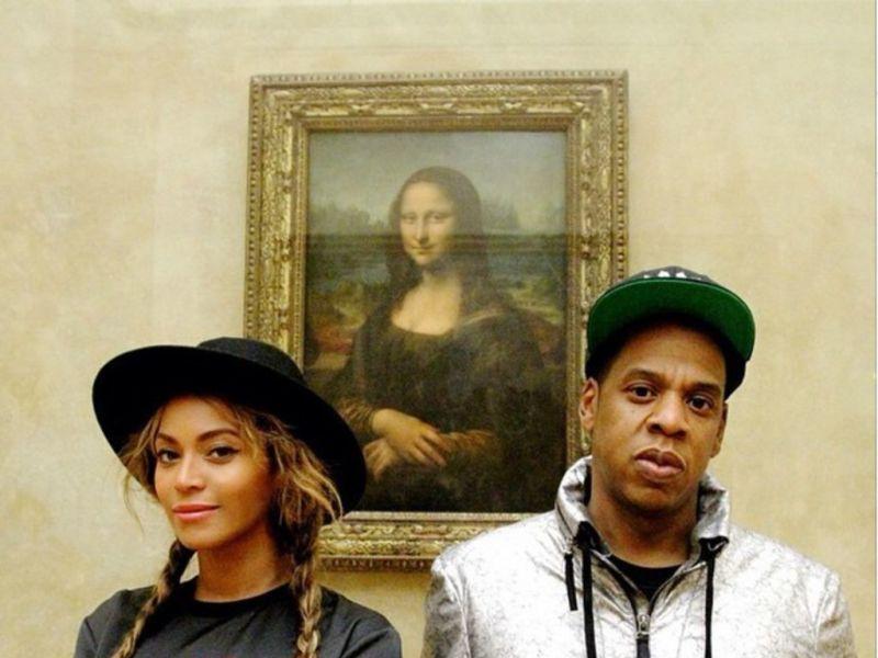 Beyoncé et Jay Z au en visite au Louvre en 2014