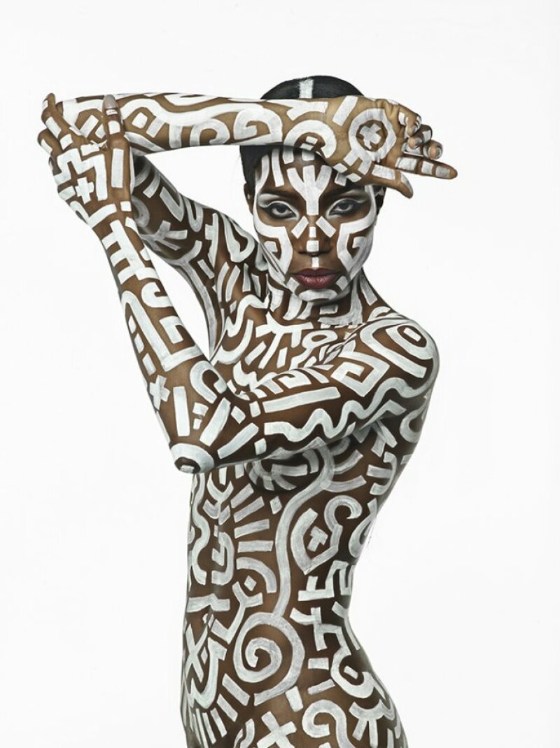 bodypainting-keith-haring-guido-daniele