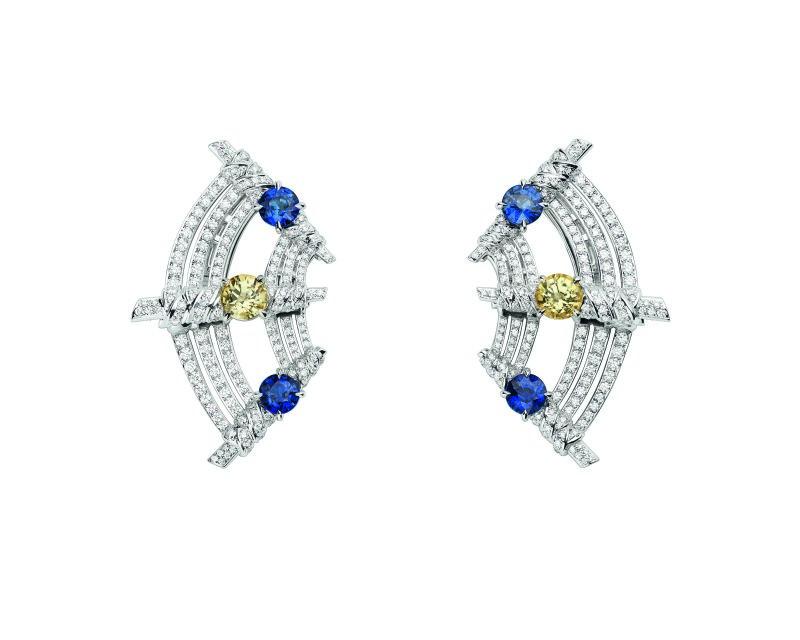 Boucles d'oreille Afrique diamant