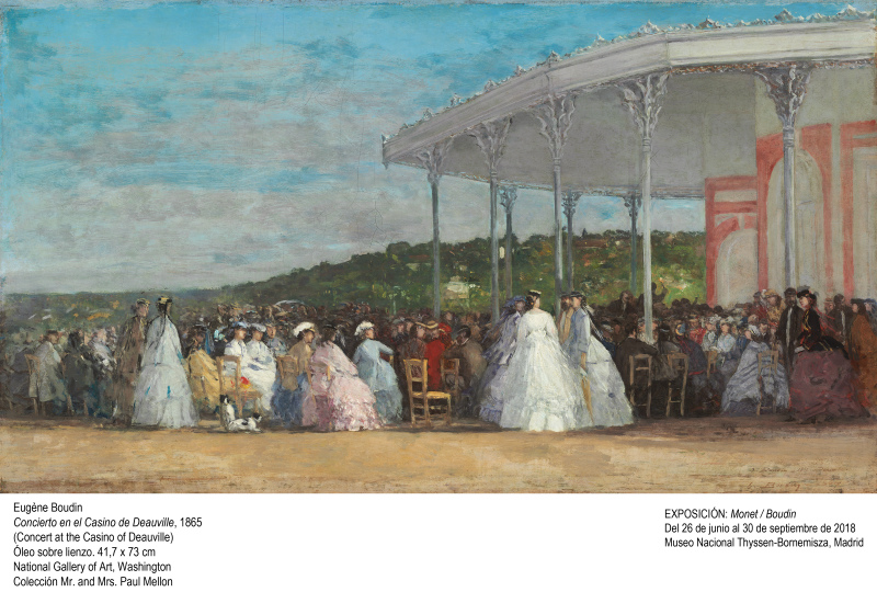 Eugène Boudin, Concert at the Casino of Deauville, French, 1824 - 1898, 1865, oil on canvas, Collection of Mr. and Mrs. Paul Mellon