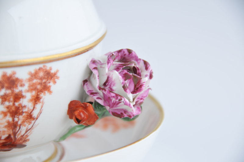 Bouillon pourpre - Détail rose coté