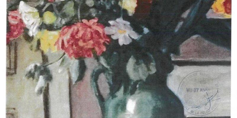 Bouquet de cannas et de dahlias - Albert André