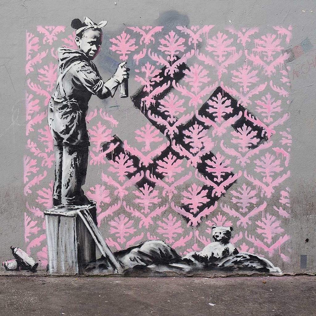 © Banksy - Antifa little girl