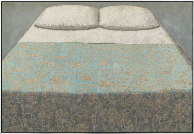 © Domenico Gnoli, Il grande letto azzurro, 1965