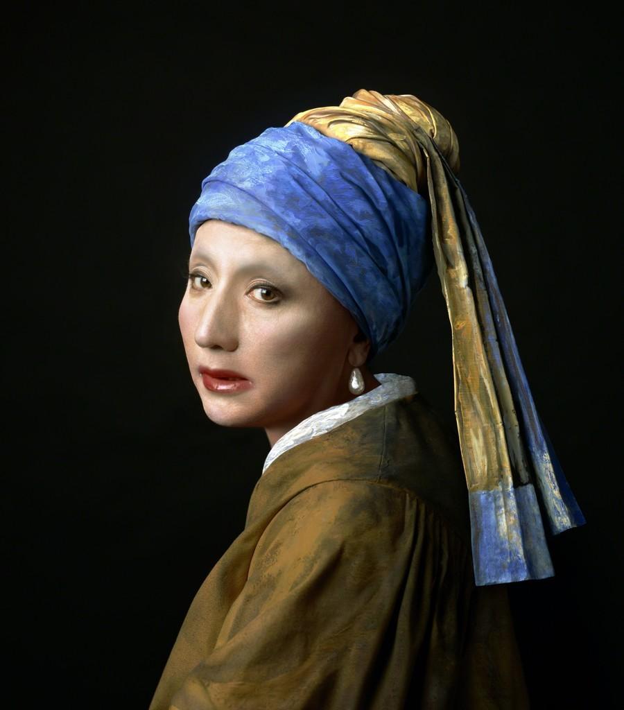 © Yasumasa Morimura - La jeune fille à la perle de Johannes Vermeer