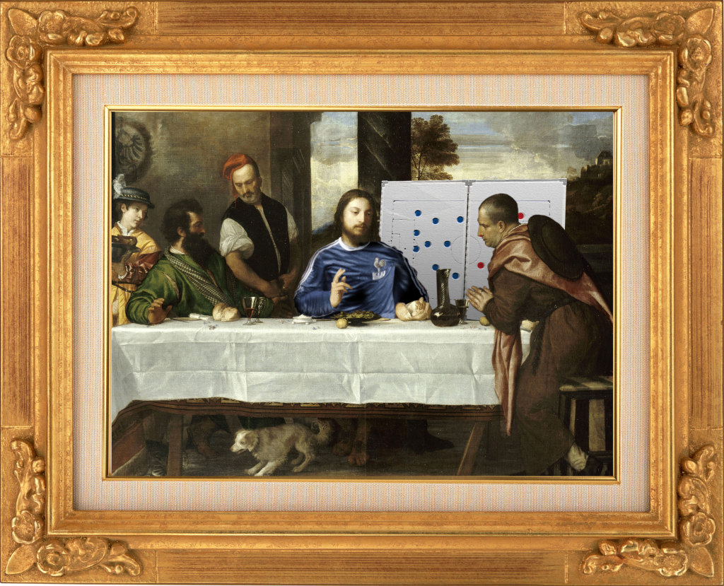 """4-4-2 d'après""""Les Pèlerins d'Emmaüs"""" de Titien"""