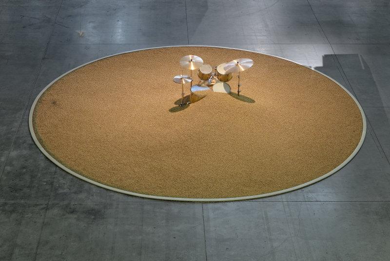 Vue de l'exposition Céleste Boursier Mougenot