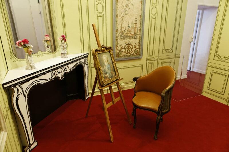 Vue de l'exposition Les Belles Heures de Lunéville