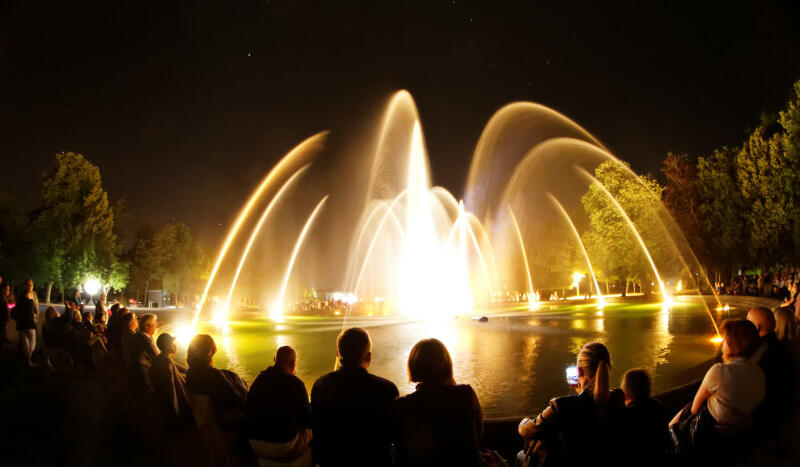 Illuminations au château de Lunéville