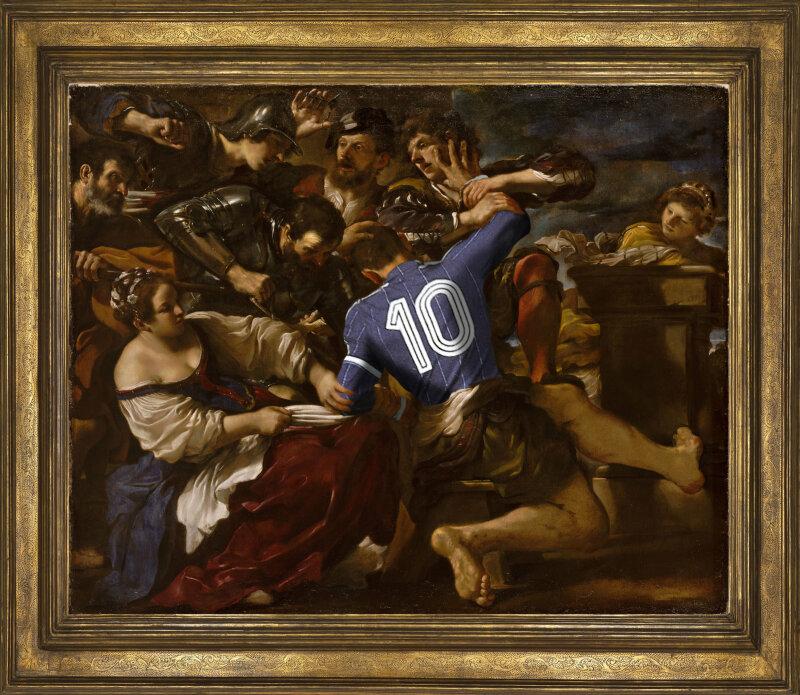 """Comment tu parles à ma sœur ? d'après """"Samson capturé par les Philistins de Guercino"""" de Giovanni Antonio Boltraffio"""