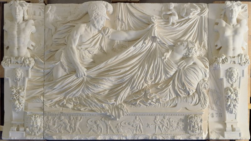4. Mars et Vénus, seconde moitié du XVIe siècle, pierre de Tonnerre, collection des musées de Langres