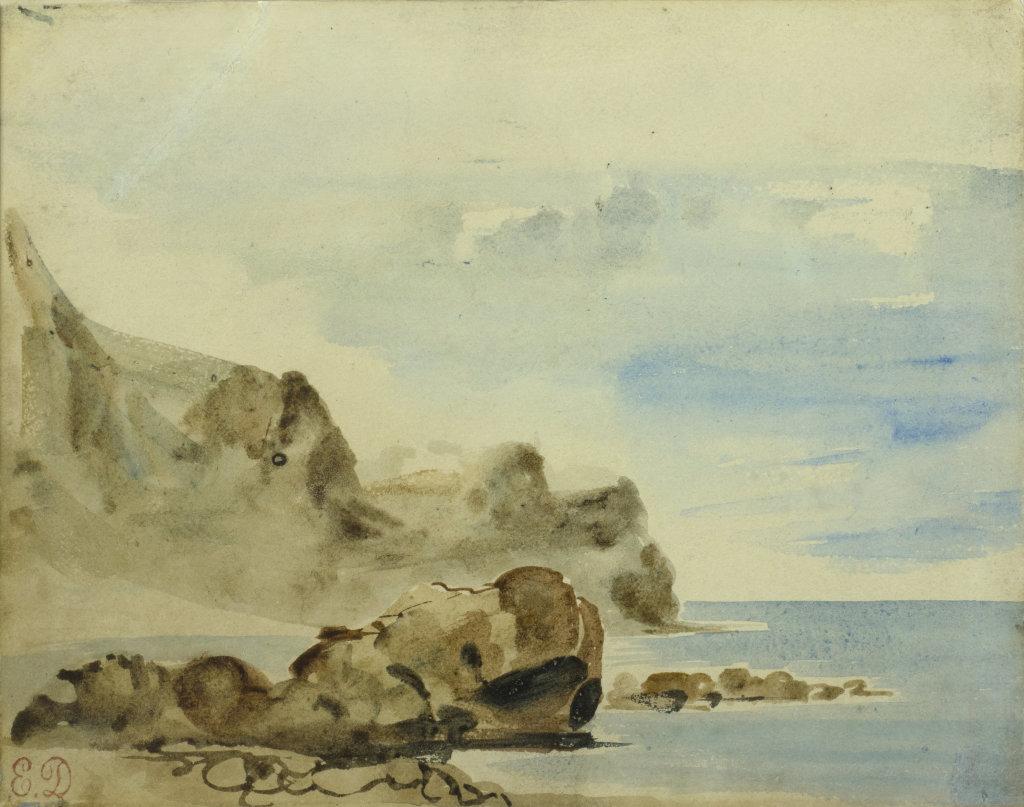 Delacroix_-Eugène_-Falaises-à-Dieppe_-C.-1834-Coll