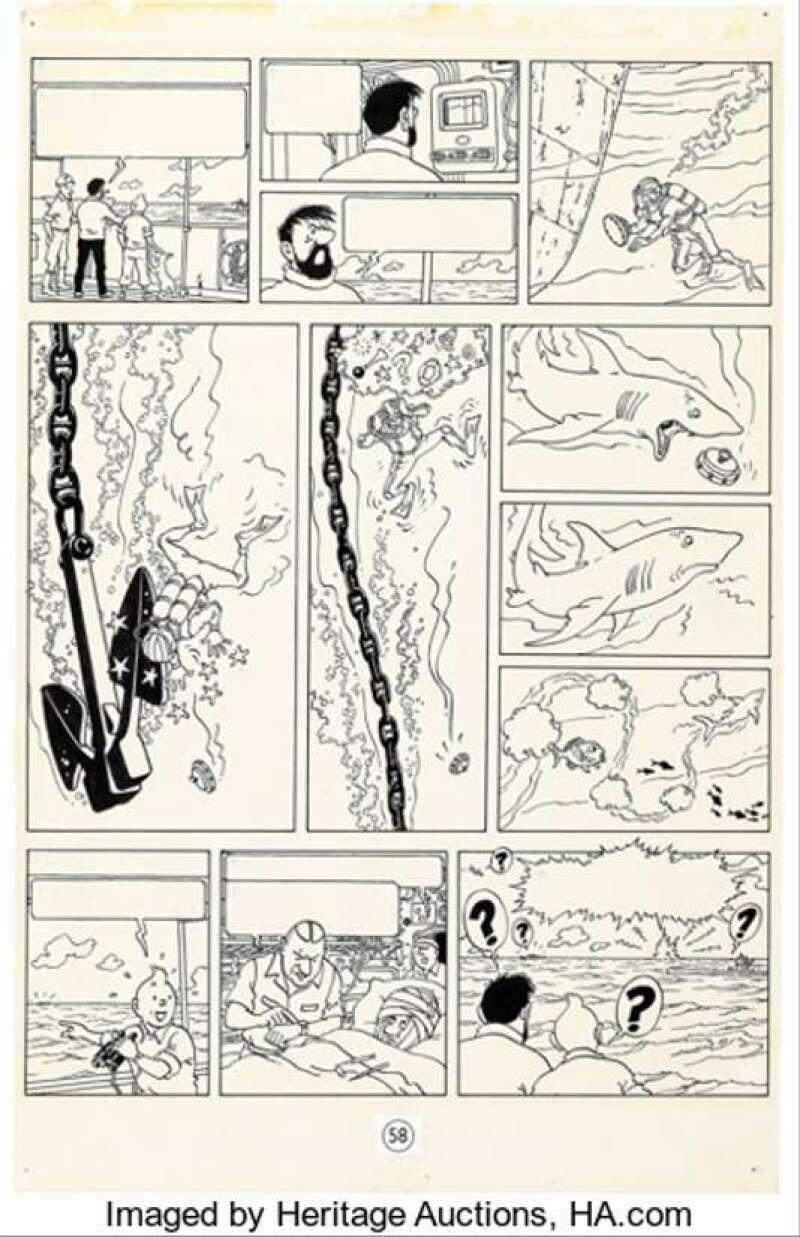 Dessin de Tintin