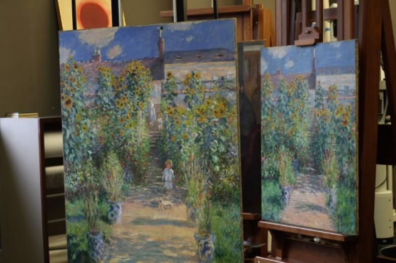 Deux versions du jardin de l'artiste à Véthheuil - Claude Monet