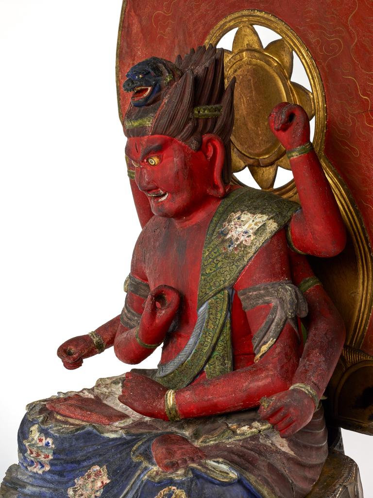 Aizen Myô-ô, roi des passions (Japon - époque Kamakura 1185-1333)dépôt du musée national des arts asiatiques Guimet, Paris