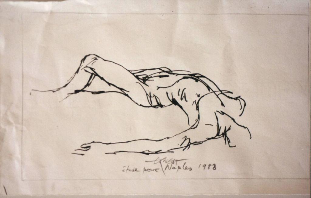 Ernest Pignon Ernest - étude à partir de lla peste de luca Giordano